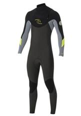 /16 Rip Curl Dawn Patrol 3/2mm GBS CHEST ZIP Wetsuit in GREY WSM4AM Sizes- - Medium -