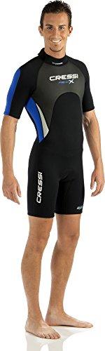 Cressi Herren  Overall Med X Shorty, Black/White/Blue, L, LV437004 -