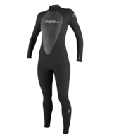 O'Neill Wetsuits Damen Neoprenanzug Reactor 3/2 mm Full Wetsuit, Black, 6, 3800-A05 -
