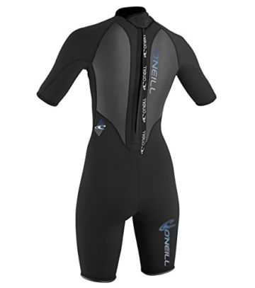 O'Neill Wetsuits Damen Neoprenanzug Reactor 2 mm Spring Wetsuit, Black, 10, 3801-A05 -