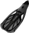 Aqua Speed - Schwimmflosse / Tauchflosse INOX (grau/schwarz, 42/43) -