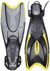 Cressi Unisex Schnorchel Flossen Palau, schwarz/gelb, M/L-41/44, CA115141 -