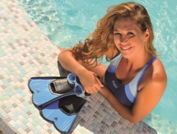 Cressi, Unisex Schwimm Flossen Light - Made in Italy, Blau, Gr. 41/42 EU,DP182041 -